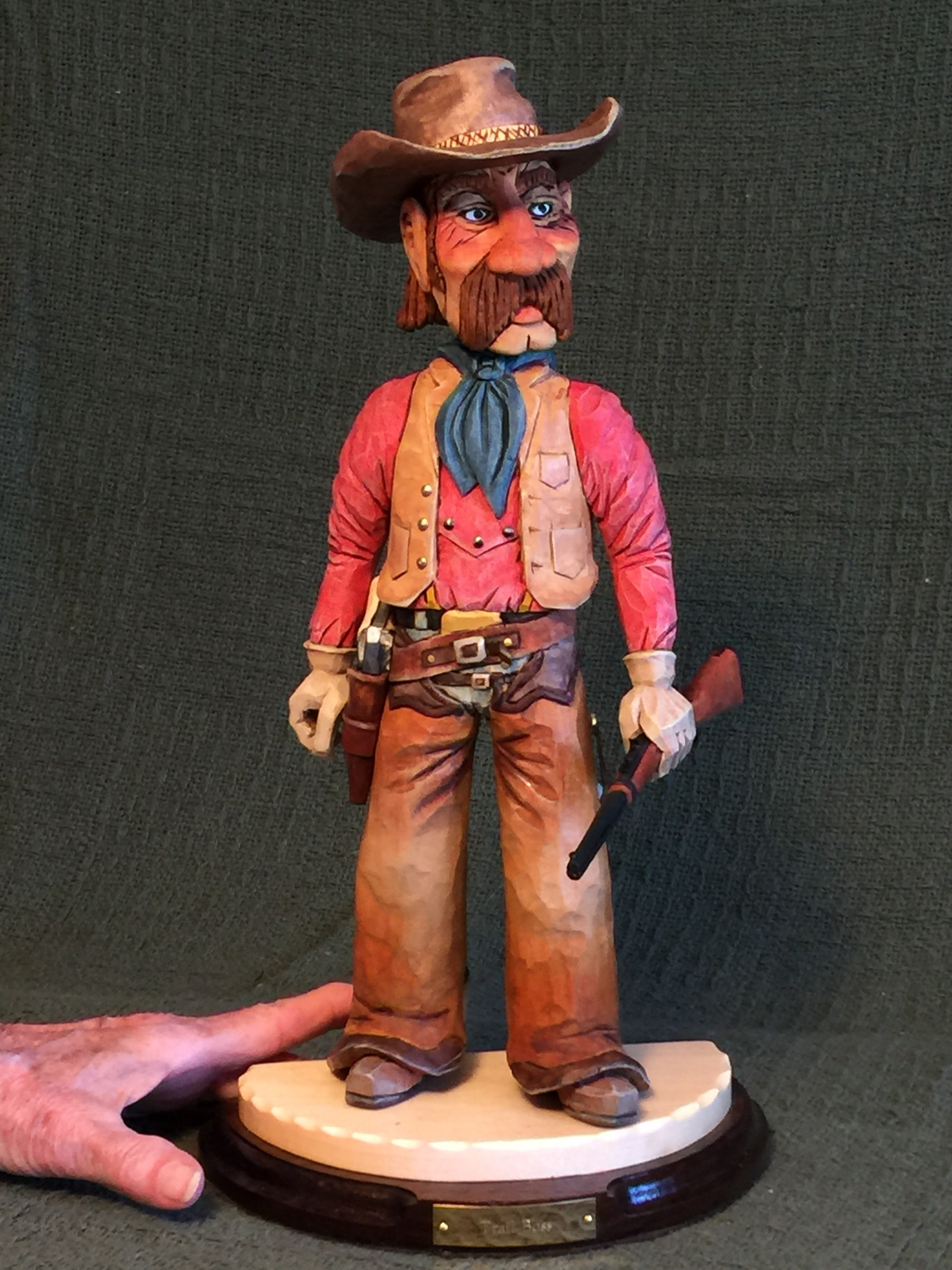 Cowboy Wood Carving
